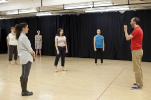 Students attend a master class taught by visiting actors. The BRAVO! series invites worldwide artistic performers to BYU's campus to perform and teach.