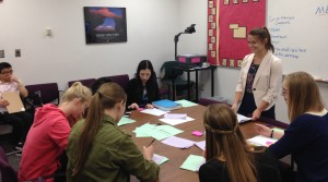 Students attend a success workshop in the Career Center, where valuable study skills are taught such as time management, note taking and test preparation. (Whitney Tibbits)