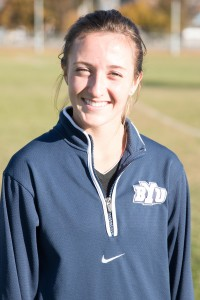 BYU junior Carrie Jube poses after cross country practice on Nov. 5. She finished second overall at the WCC championships. Bryan Pearson