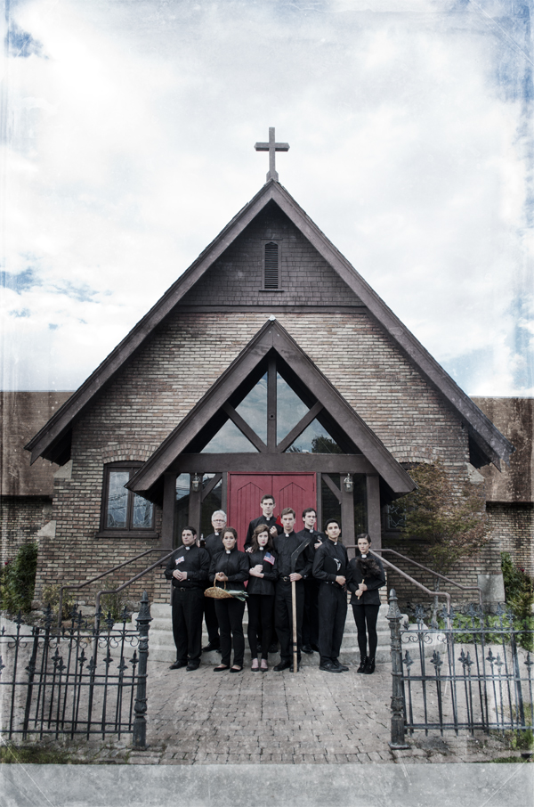 """BYU's production of """"See How They Run"""" takes place in front of an English Vicar's home.  The production will open the 7th of November.  It is a comedy that will be sure to make you laugh.  (Chelsea Bauer)"""