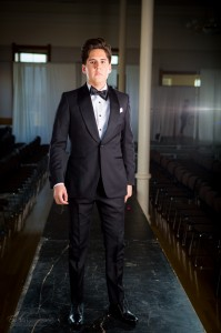 A formal black tie look presented by Beckett & Robb at Provo Fashion Week (Endless Photography).
