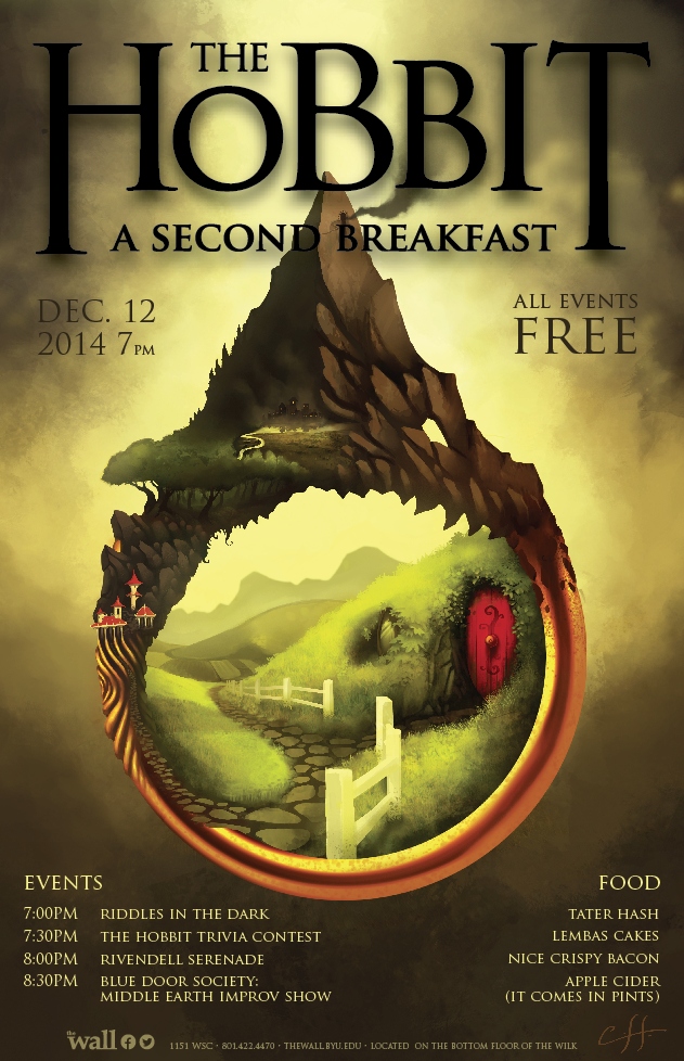 """The Hobbit: A Second Breakfast"" takes place Friday, Dec. 12, at The Wall. (Courtesy of Ben Grange)"