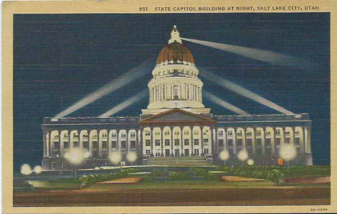 A vintage image of the Utah Capitol