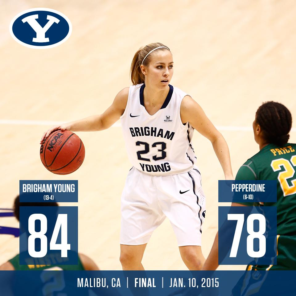 Makenzi Morrison's record 7-for-7 three-point shooting was key in BYU's 84-78 win at Pepperdine.