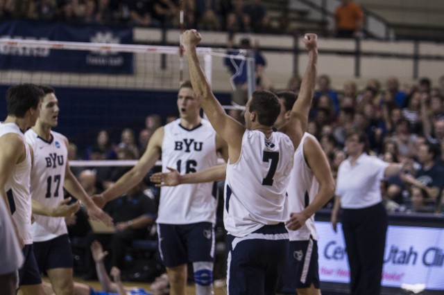 BYU men's volleyball takes second match at UC Santa Barbara, avoids sweep