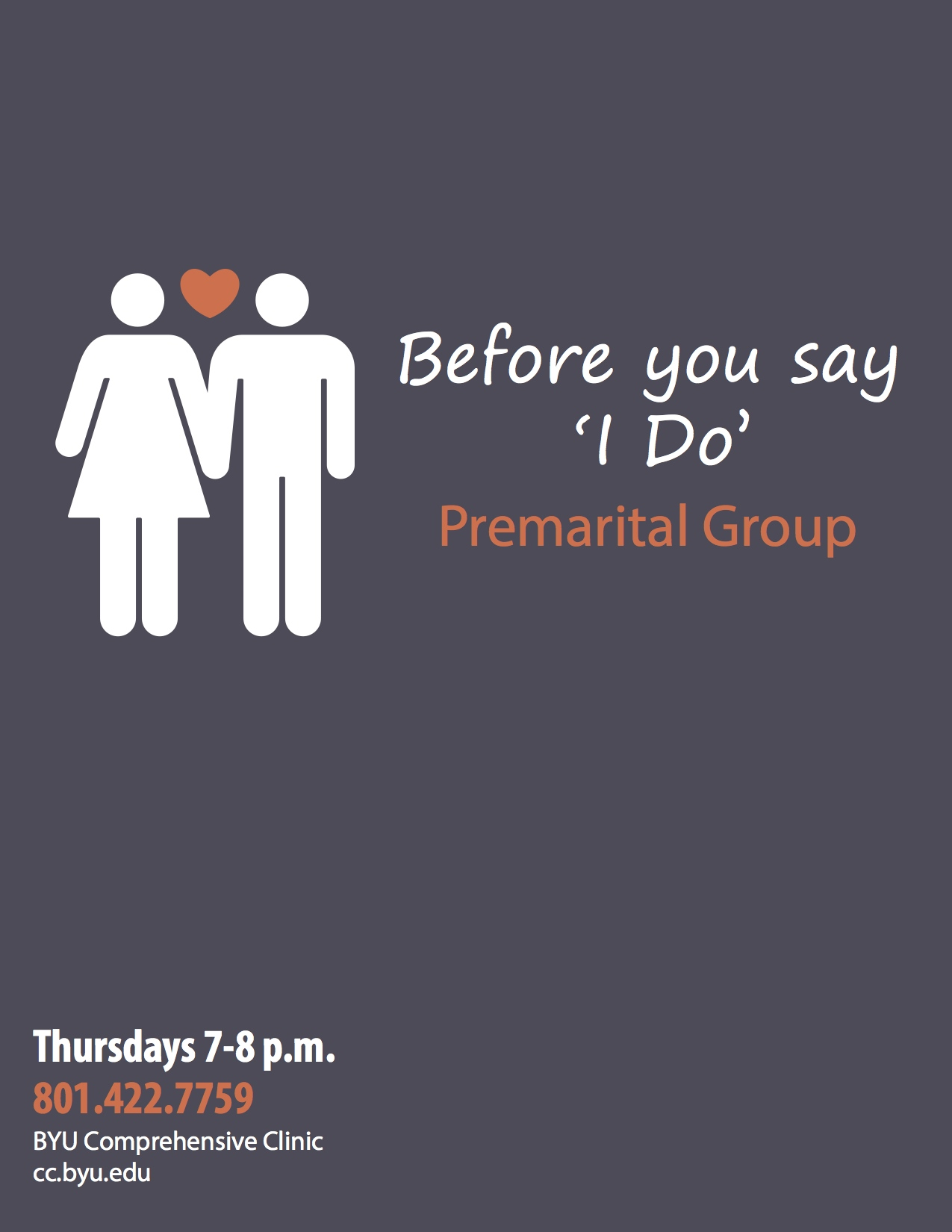 BYU's Comprehensive Clinic will offer a Premarital Group for couples preparing for marriage. (Brittany Condie)