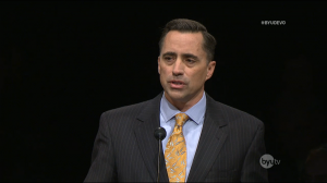 David Hart speaks to BYU students at the devotional on Feb. 10 in the Marriott Center.