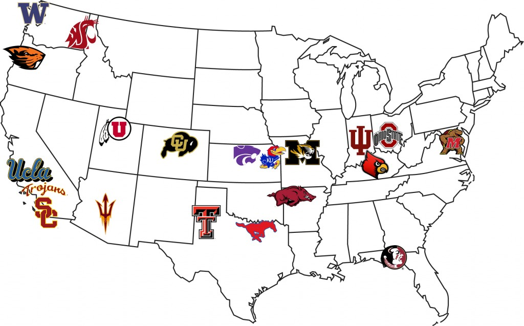 Just some of the programs that BYU beat out for class of 2015 recruits. (Sterling Randle)