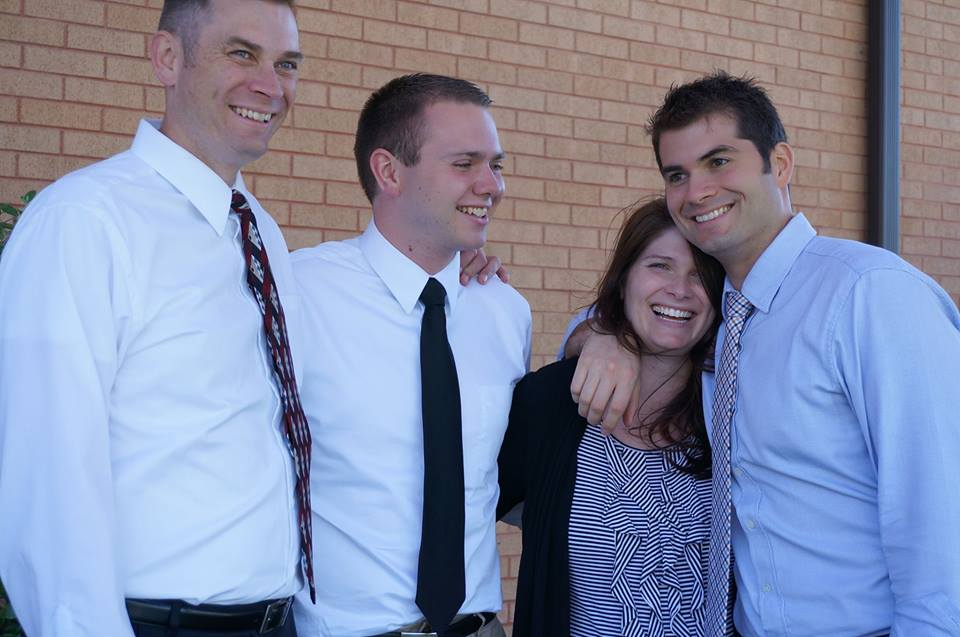 Dan Bunker (second from the left) is an openly gay BYU student. Here he is pictured with his siblings. (Samantha Gannaway)