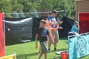Children at Camp Kesem enjoy a giant nerf war game. Camp Kesem at BYU is a place for children whose parents have cancer to forget about their worries and enjoy a fun-filled week of activities and bonding. (Facebook)
