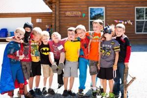 Campers dressed as superheroes one day at Camp Kesem. (Camp Kesem Facebook)