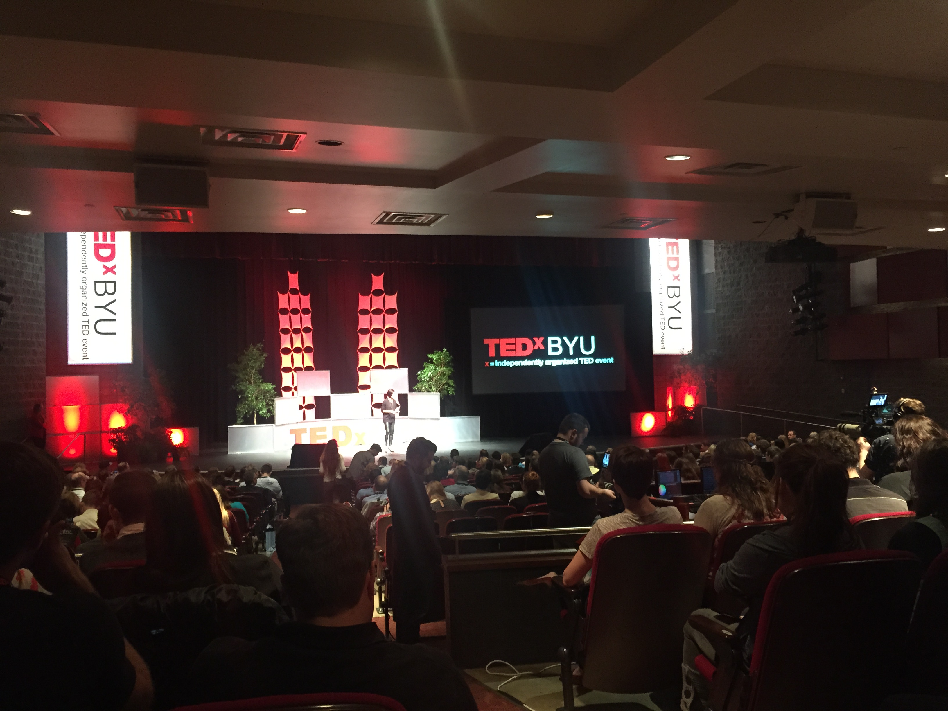 TEDxBYU came to the Provo Covey Center this year. This event was hosted by BYU's Ballard Center. (Jenna Koford)