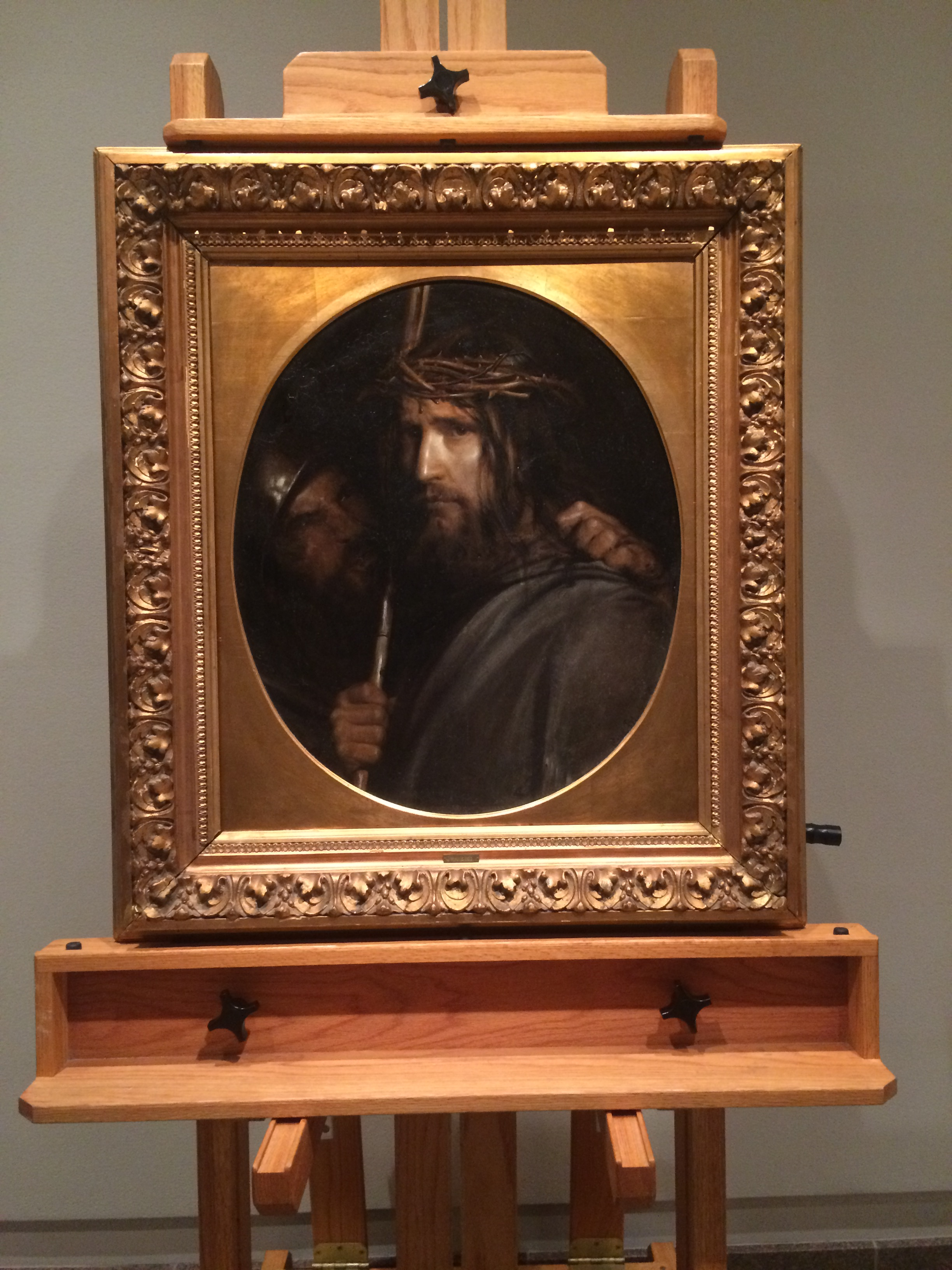 """The painting """"the Mocking of Christ,"""" by Carl Bloch, sits on display at the BYU Museum of Art. The painting was acquired by BYU for the Museum and debuted on June 6. (XXX)"""