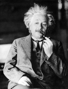 FILE - This undated file photo shows legendary physicist Dr. Albert Einstein, author of the theory of Relativity. Einstein was a father who worried his son wasn't taking his geometry studies seriously enough, and that he was indebted to a favorite uncle for giving him a toy steam engine when he was a boy, launching a lifelong interest in science. He also believed the infidelity of a friend's spouse was no big deal. These and other reflections, including personal opinions on God and politics, are contained in 27 letters being offered by a private collector at auction this week. (AP Photo/File)