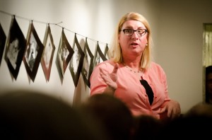 """Kimberly Anderson presented her year-long work, """"The Mama Dragon Story Project,"""" at Writ & Vision, a bookstore in downtown Provo on Tuesday, Sept. 29. The project contains photos and essays written by women who refer to themselves as """"Mama Dragons."""" (Mama Dragons)"""