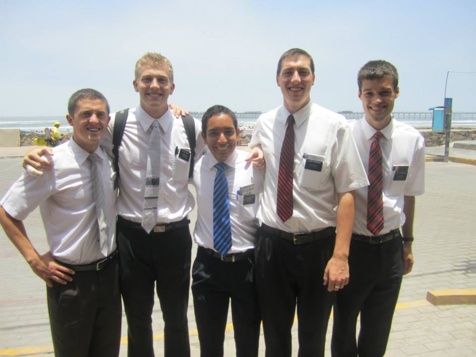 ----- pose for a picture while they were on the --- mission. (Maddi Driggs)