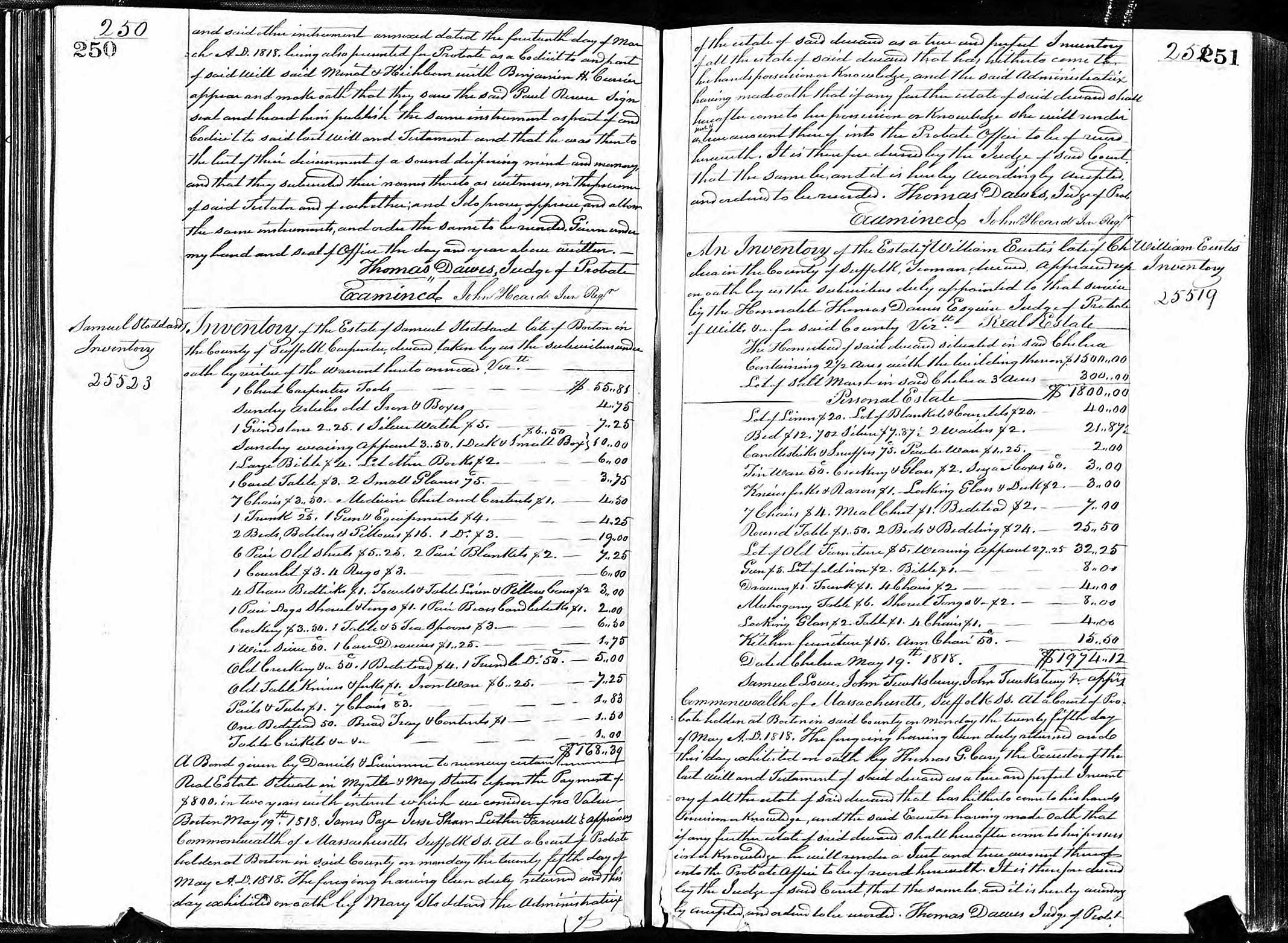 This undated public document from Massachusetts probate records provided by ancestry.com, shows a portion of Paul Revere's will. A three-year digitization project by the genealogical research firm will make available online, starting Wednesday, Sept. 2, 2015, wills and probate records of about 100 million Americans from the Colonial era to the beginning of the 21st century. (Massachusetts Probate Records/ancestry.com via AP)