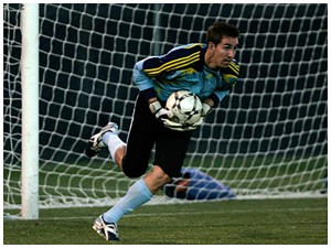 Brandon Gilliam making a save. Brandon played at BYU from 2002-2008. (Brandon Gilliam)