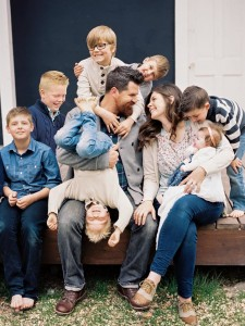 """The Meredith family. The Meredith's new television show, """"Old Home Love,"""" features Andy and Candis as they remodel and bring life to older homes in Utah. (Old Home Love)"""