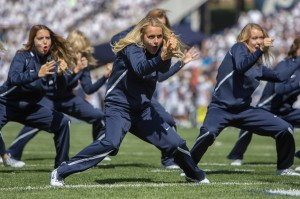 The Cougarettes perform a hip hop routine during the Virginia game last season. The Cougarettes will perform as part of the half-time show against UConn. (Universe Archives)
