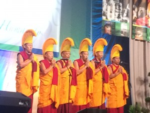 Religious performers sang to open the plenary session on income inequality.
