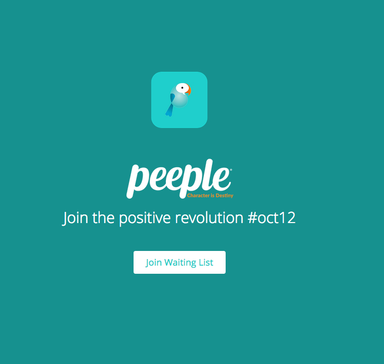 """The Peeple website where people can sign up to test a beta version of the app. The app, advertised as """"Yelp for humans,"""" has received much criticism. (forthepeeple.com/Screenshot)"""