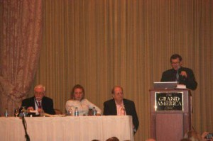 """Rich Melheim speaks aboutthe dangers of media consumption during the World Congress of Families on Thursday. He and other panelistsdescribed how families can become """"media-wise"""" by providing proper media education for children. (Steven Potter)"""