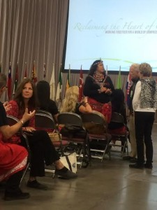 Marilyn Sorensen and 300 other tribal leaders and volunteers helped lead a flash mob