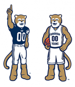 Torch Creative made logos for Cosmo in 2012. The reputation and fame of Cosmo has continued to grow and spread throughout Cougar Nation. (BYU Licensing and Trademark Division)