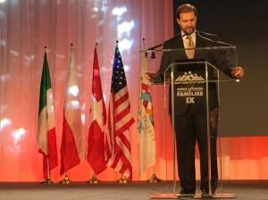 Evan Lenlow addressing the need to faith groups to defend religious freedom. (Austin Tenny)