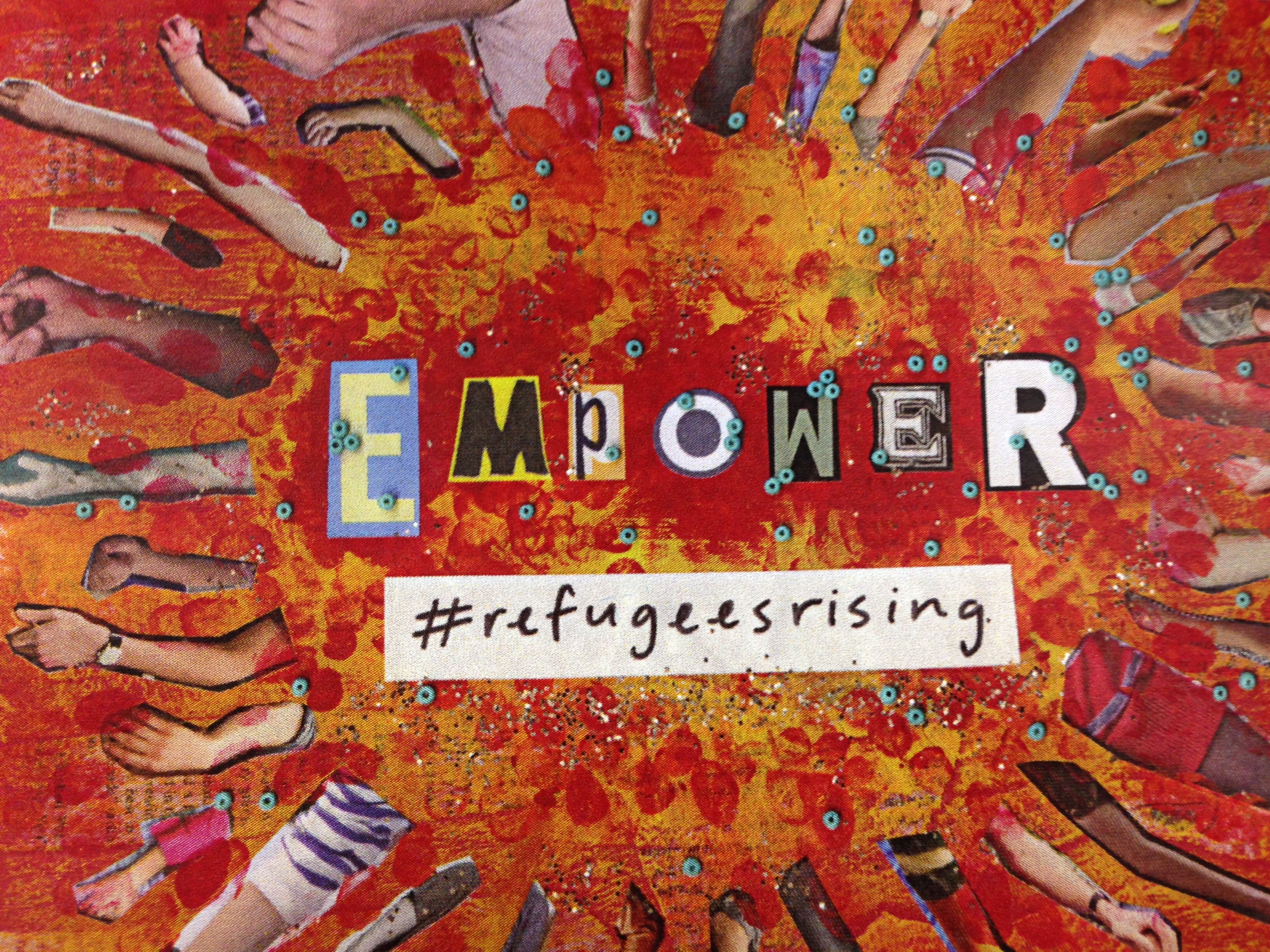Writing 150 Students participated in Care Week by collecting donations to aid refugees in Utah. The students are also working with the #RefugeesRising campaign. (poster design by Erika Ohki)