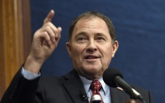 National Governors Association (NGA) Chair Gov. Gary Herbert, R-Utah, gives a 'State of the States' address, Thursday, Jan. 7, 2016, at the National Press Club in Washington. (AP Photo/Susan Walsh)