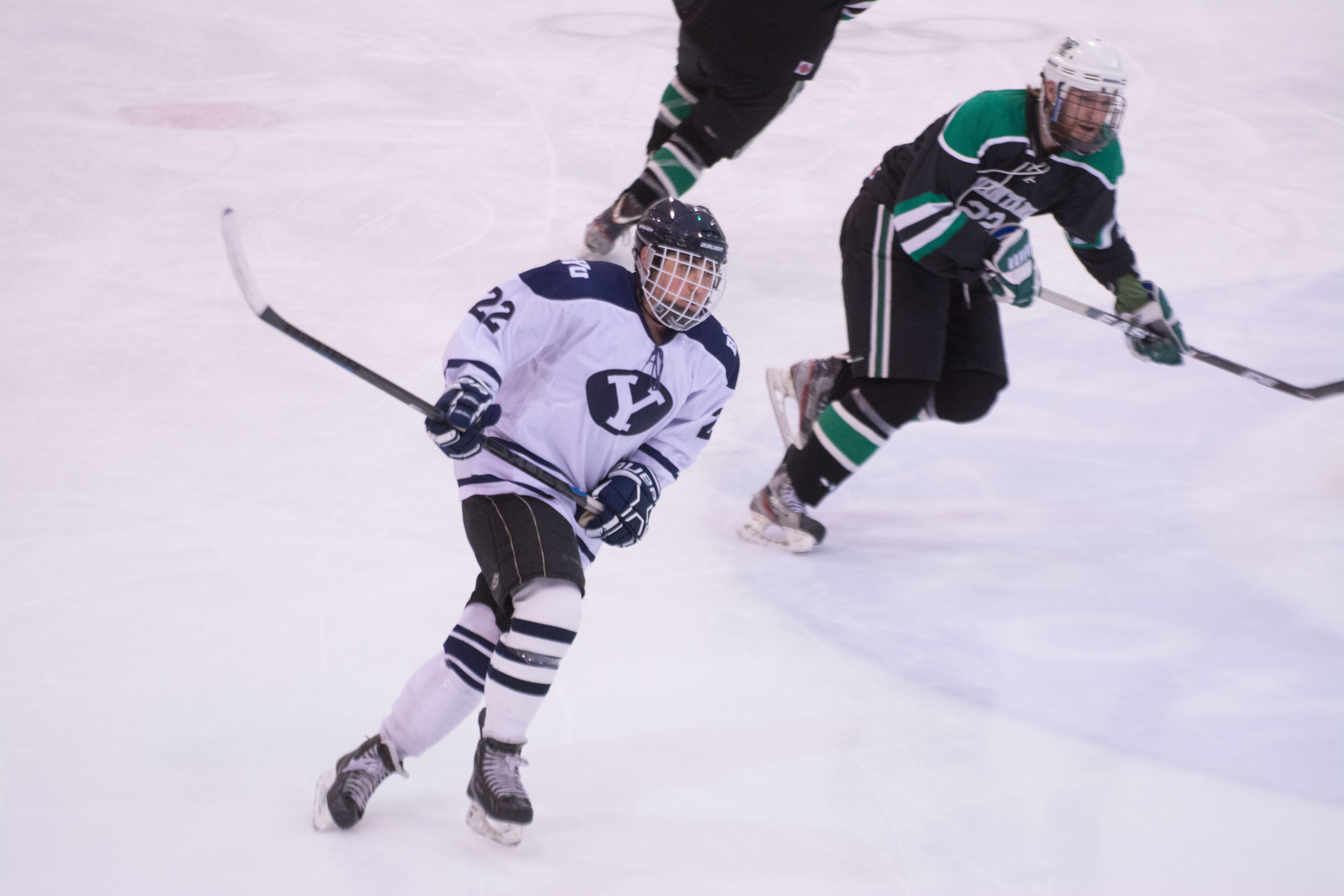 BYU takes the ice against Montana Tech late in the 2015-2016 season