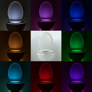 A BYU student invented a motion activated toilet night light called the Illumibowl. (Matt Alexander)