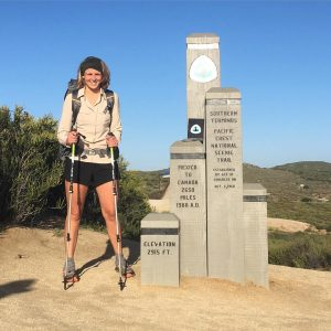 Sarah Wright began the PCT on April 26, 2016. She plans to complete the hike in almost five months. (Sarah Wright)