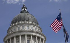 The American flag flies above the Utah State Capitol Building in Salt Lake City, Utah. The Utah Legislature is one of the more conservative state legislatures in the country. (Porter Chelson)