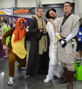 Brothers Garrett, Tim, Greg and Mark cosplay 'Star Wars.' They come every year as part of a tradition.