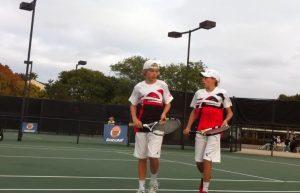 Derek and Garret Vincent grew up playing doubles together. (Garret Vincent)