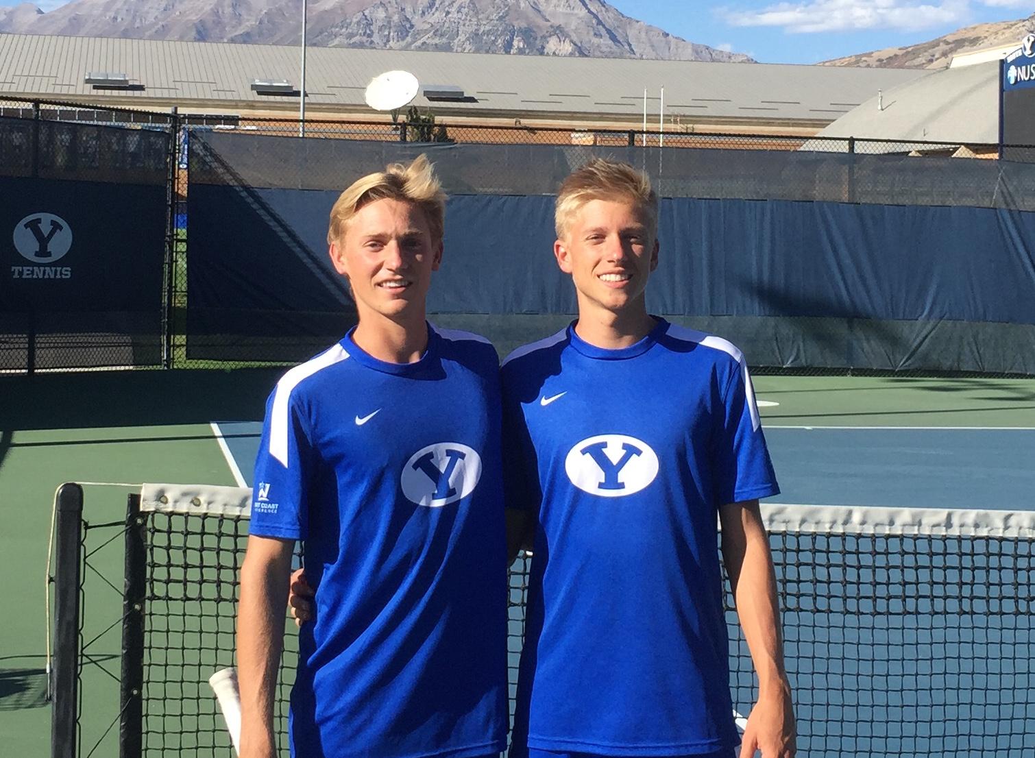 Derek and Garret Vincent joining the tennis team as freshmen together. (Derek Vincent)