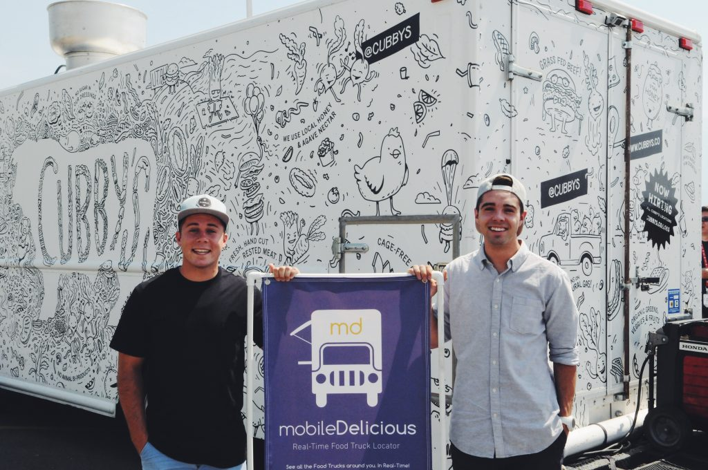 Brighton Kriser and Bryce Lund created mobileDelicious so that users had a more efficient experience when they searched for food trucks. (mobileDelicious)