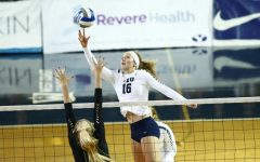 Whitney Young Howard connects with a ball during the DC Sports Koehl Classic. (BYU Photo)