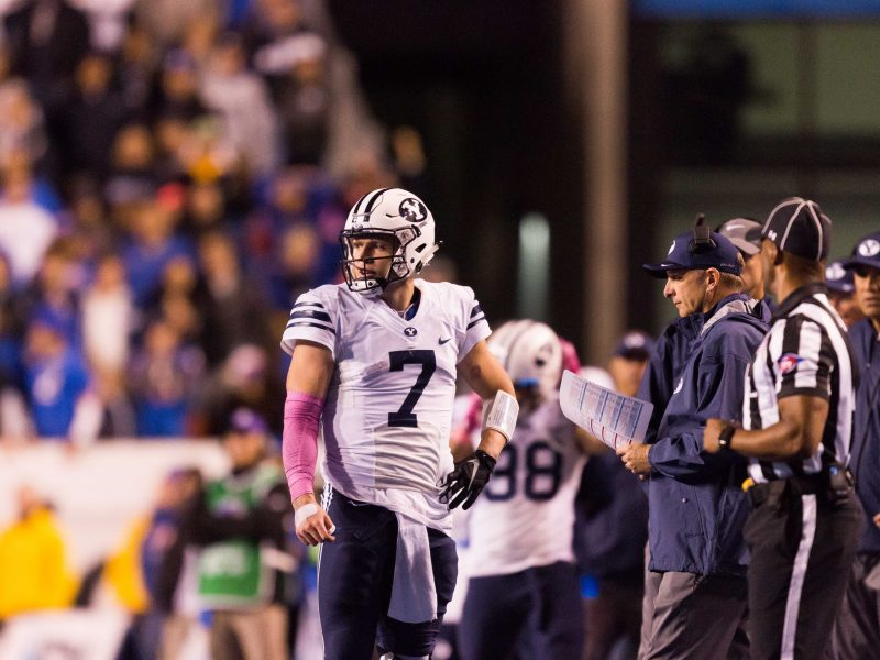 Taysom Hill completed 21-of-42 passes against Boise State in a 28-27 loss. (Ari Davis)