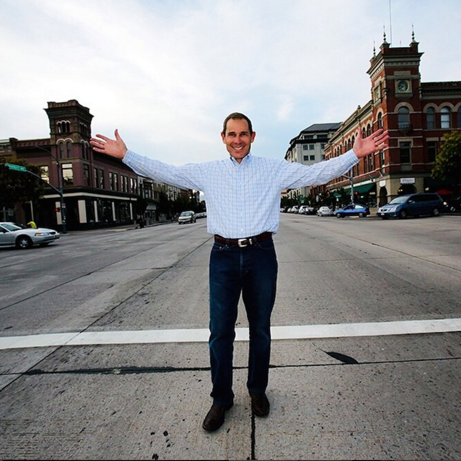 John Curtis poses on a street in downtown Provo. (John Curtis)