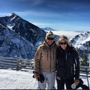 John Curtis enjoys some time in the snow with his wife Sue. (John Curtis)