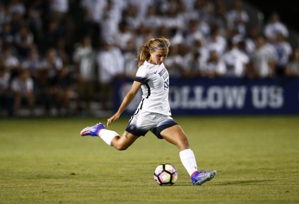 Lizzy Braby scored her first goal of the season against San Diego. (BYU Photo)