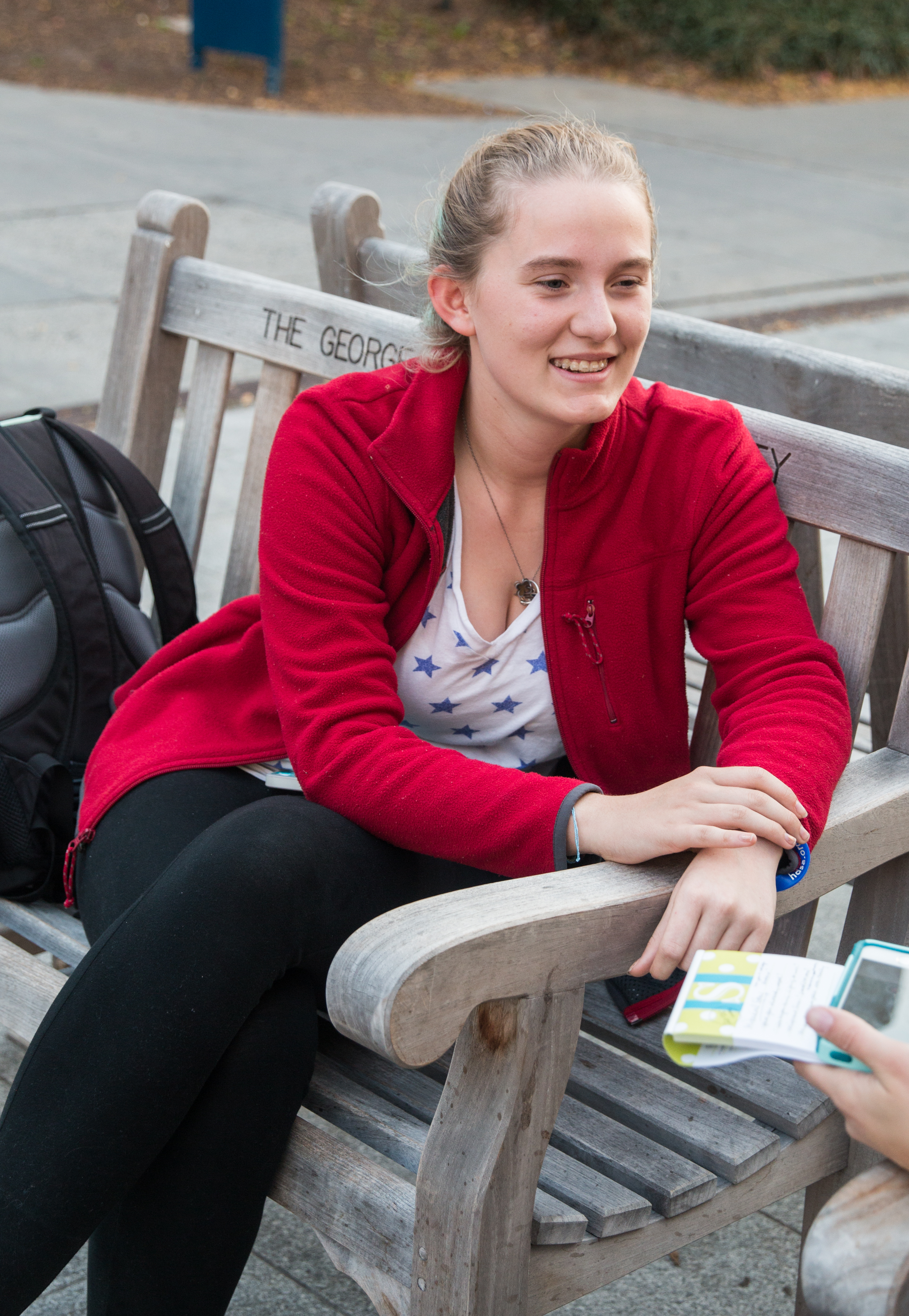 George Washington University student Nora Ripley-Grant talks about her opinions on the outcome of the election. (Maddi Driggs)