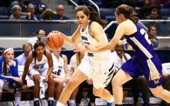 Kalani Purcell posted a double-double in BYU's blowout victory on Wednesday night. (BYU Photo)