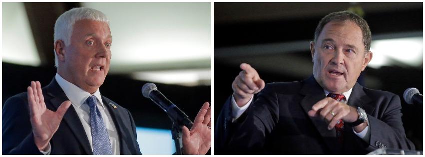 (Left) Mike Weinholtz; (right) Utah Gov. Gary R. Herbert