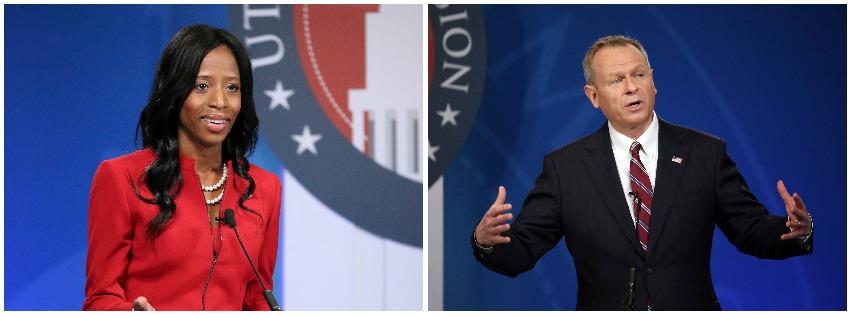 (Left) U.S. Rep. Mia Love; (right) Doug Owen