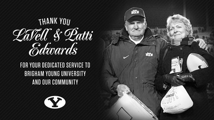 Legendary BYU football head coach LaVell Edwards died on Dec. 29. He was 86-years old. (BYU Photo)